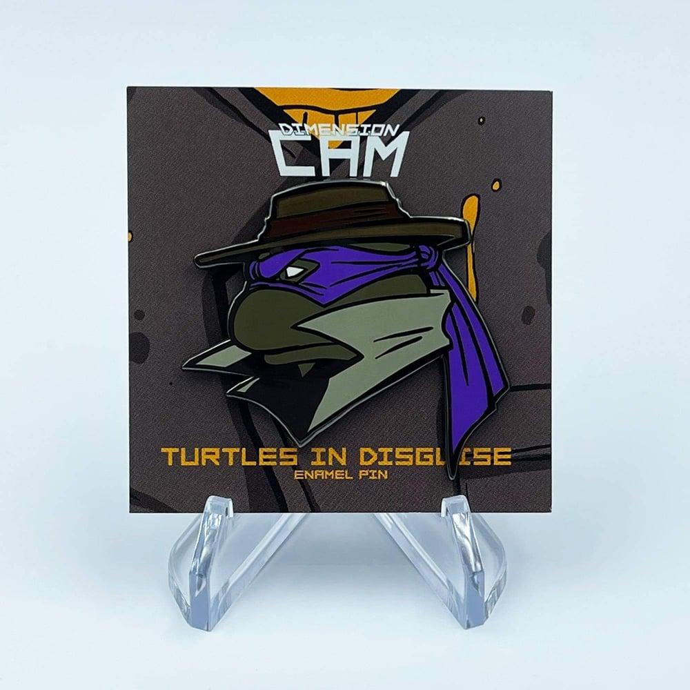 turtles in disguise enamel pin