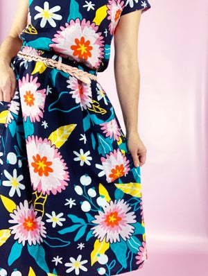 Ready Made Pink Flourish Rachael Skirt with free postage