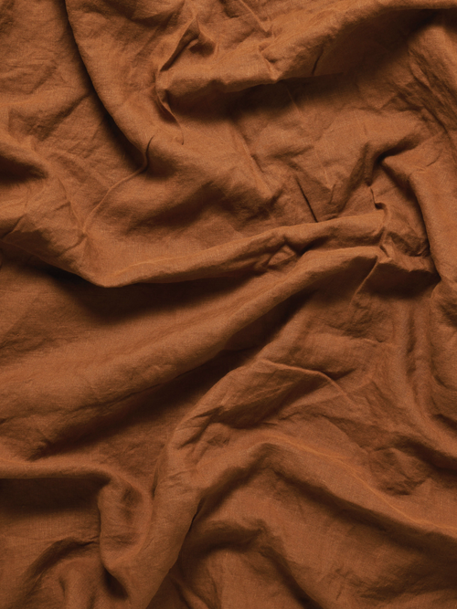 Image of Tobacco Linen Sheets
