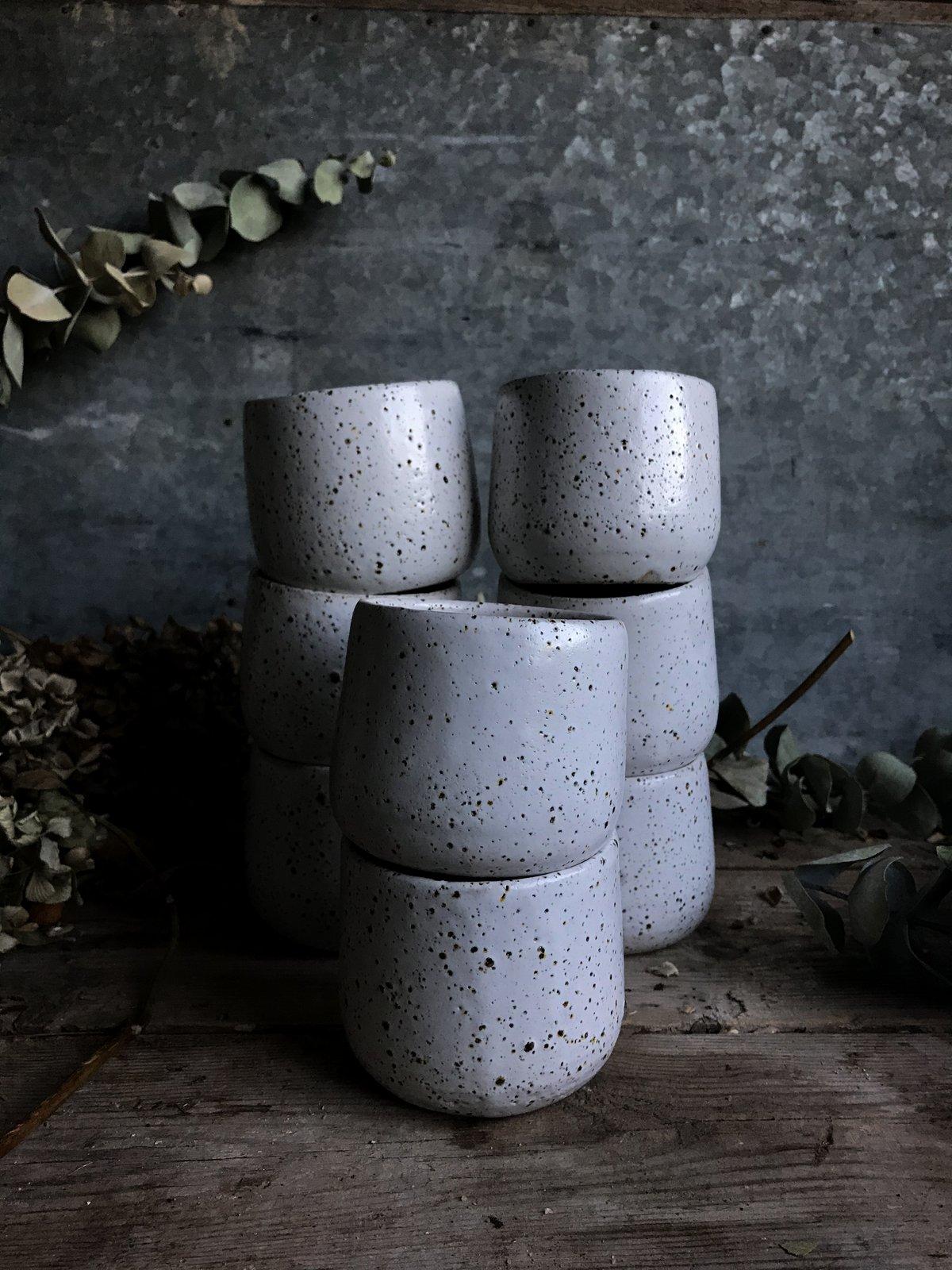 Image of Nurture white speckled cups