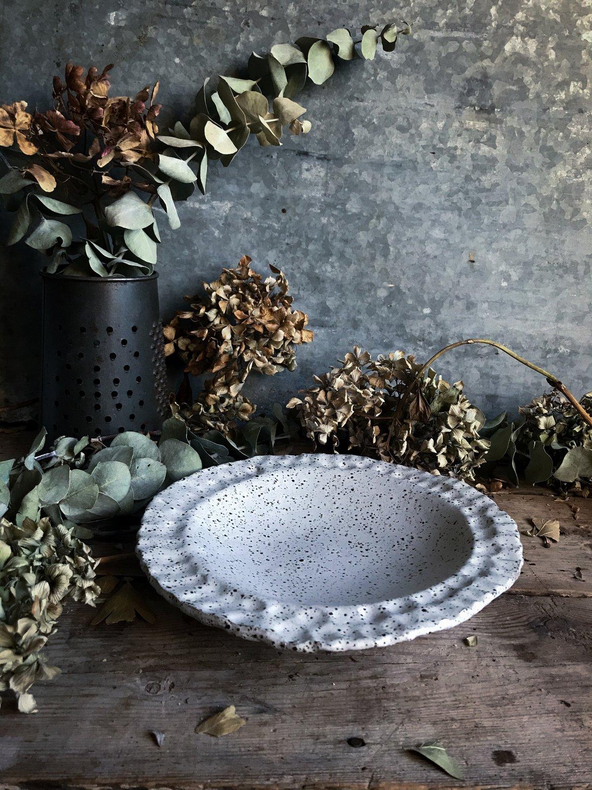 Image of Fingerprint edged bowl #1