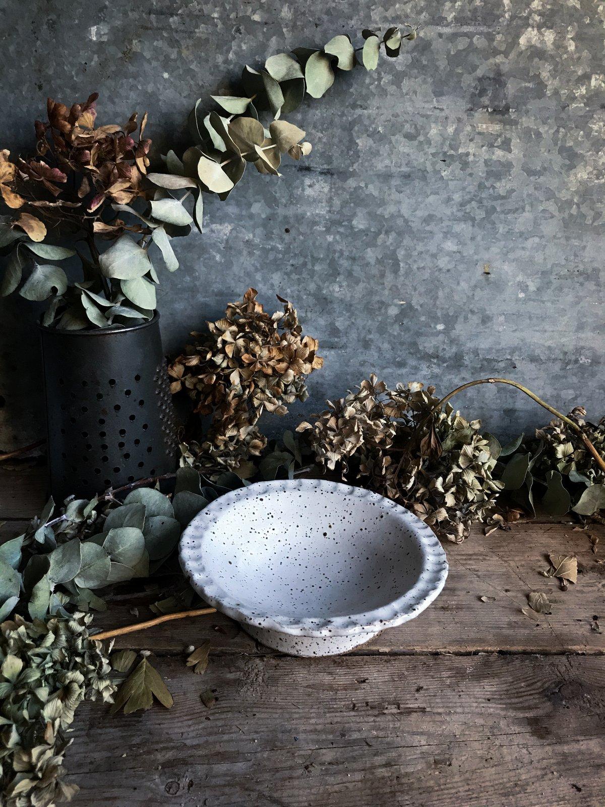 Image of Fingerprint edge sweets bowl