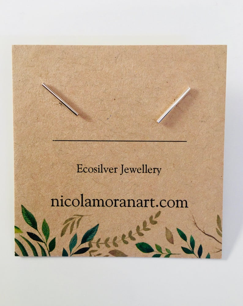Image of Eco Silver Earrings & Gift Box