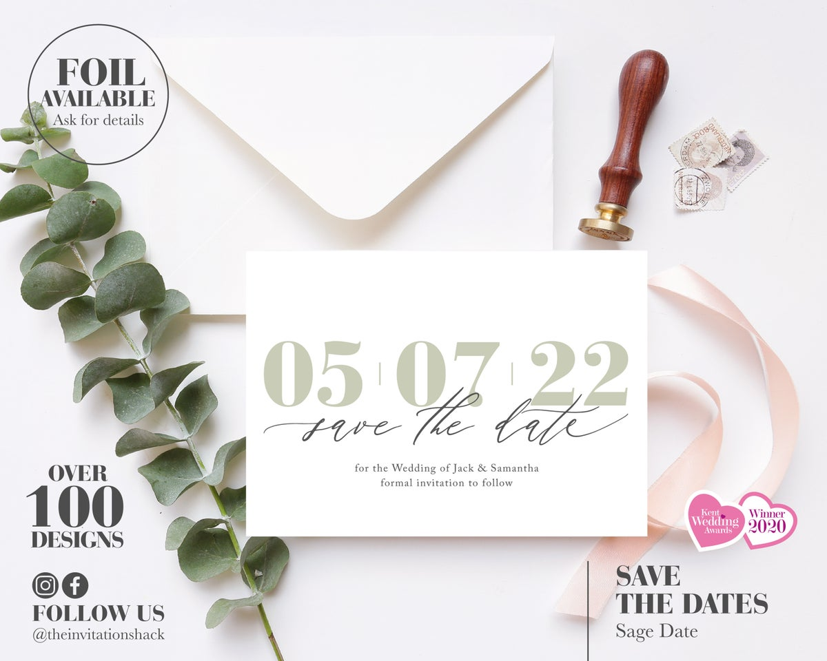 Simple Modern Save the Date