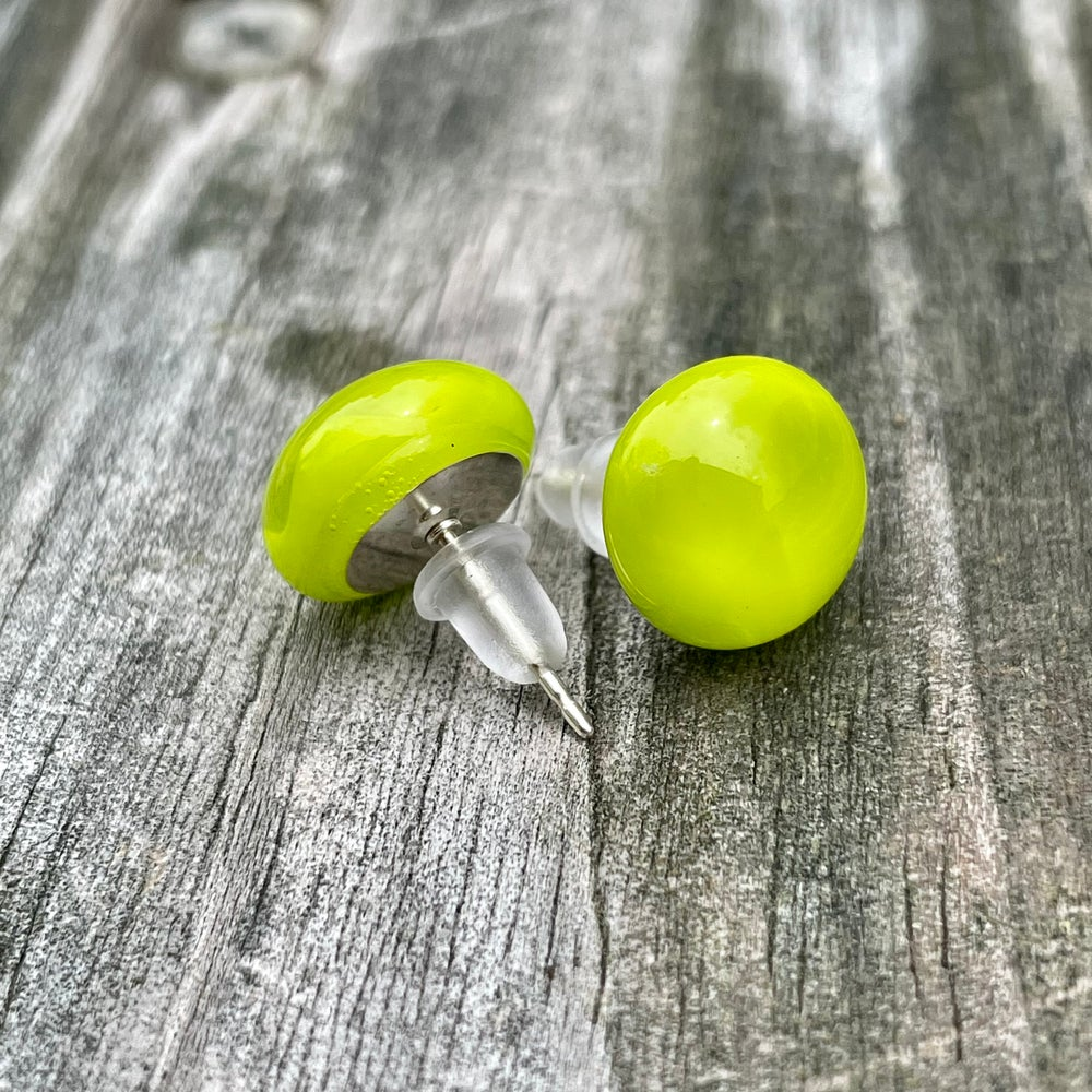 Image of Lime Green and Clear Studs