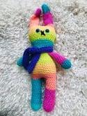 Rainbow Bunny Crocheted Soft Toy