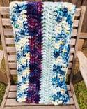 Chunky Crocheted Blanket 'Purple Rain'