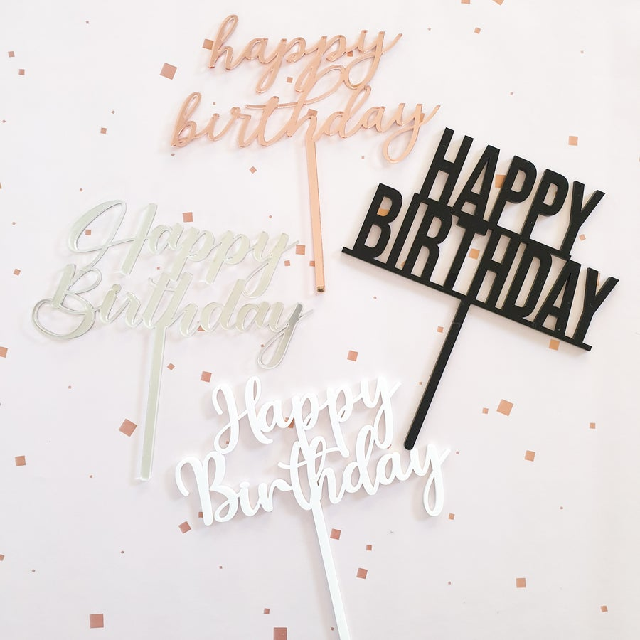 Image of Happy Birthday Topper