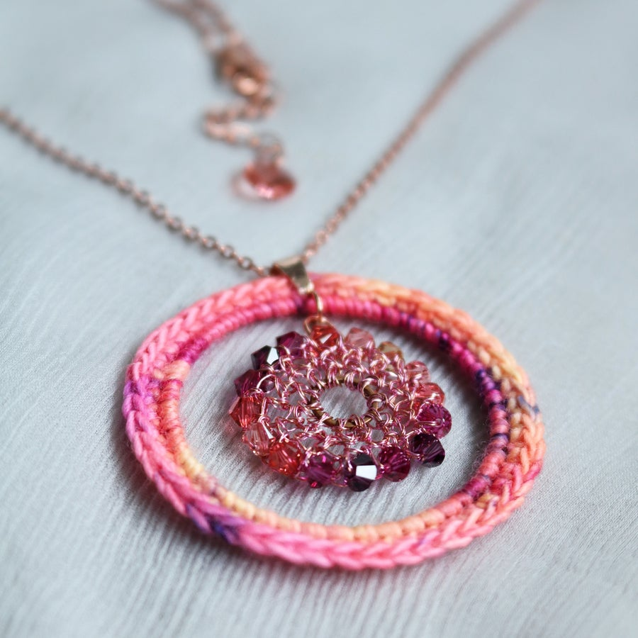Image of CIRCLES Pendant - Pink Sands