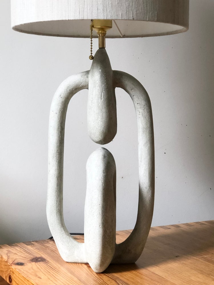 Image of table lamp concrete
