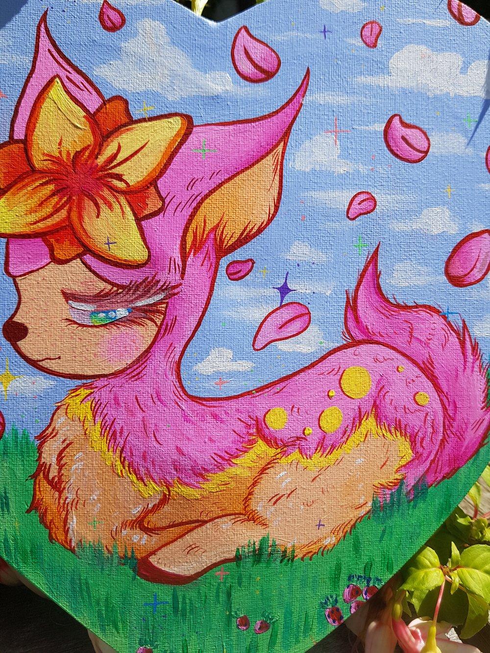 Image of Deerling Pokemon Acrylic Painting