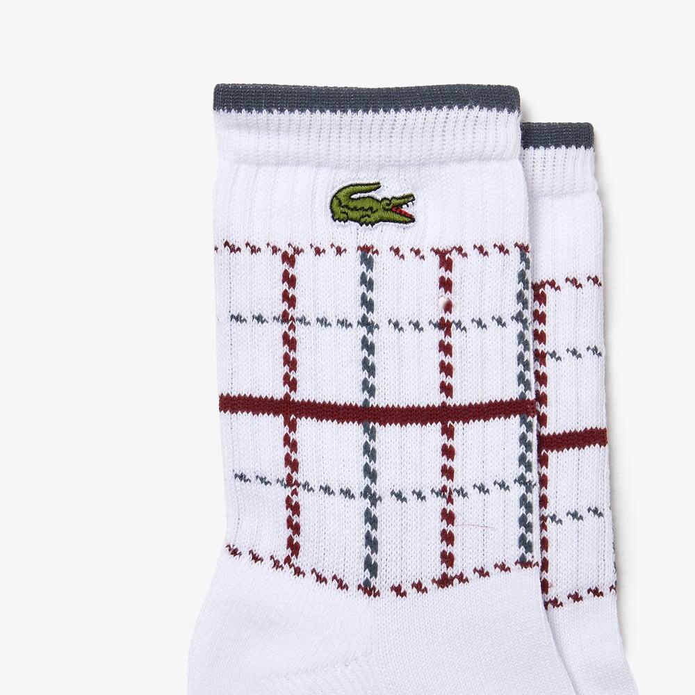 Image of Chaussettes Lacoste x Bleu Mode en tricot de coton biologique