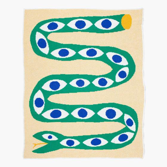 Image of Snake Eyes Mini Blanket by Slowdown Studio