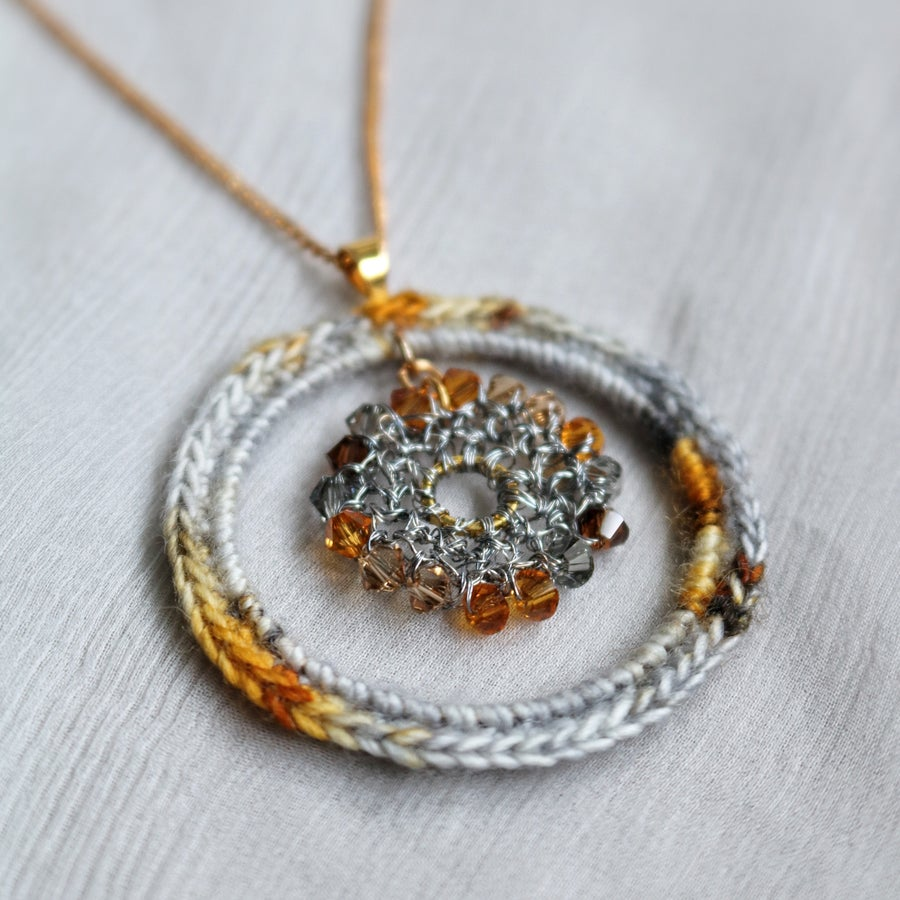 Image of CIRCLES Pendant - Paved with Gold