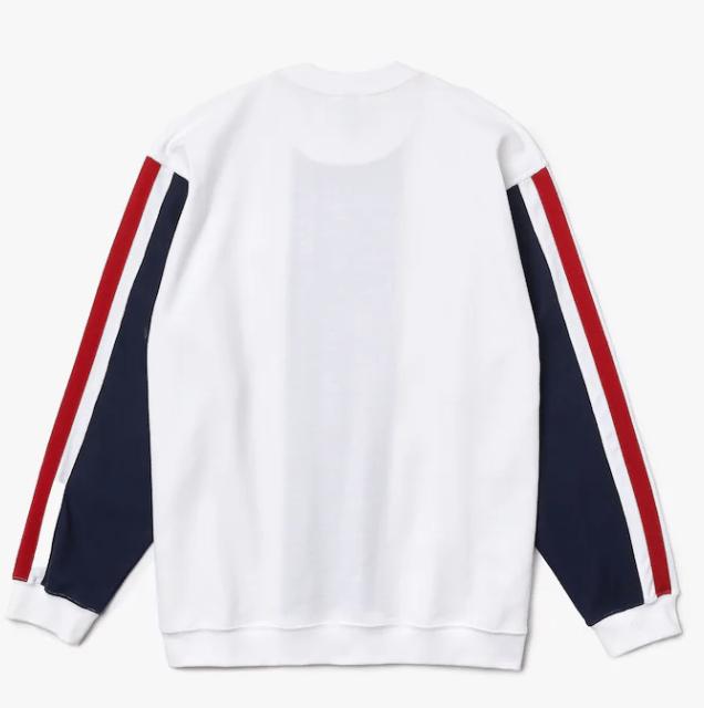 Image of Sweatshirt Lacoste x Bleu Mode en coton biologique colorblock
