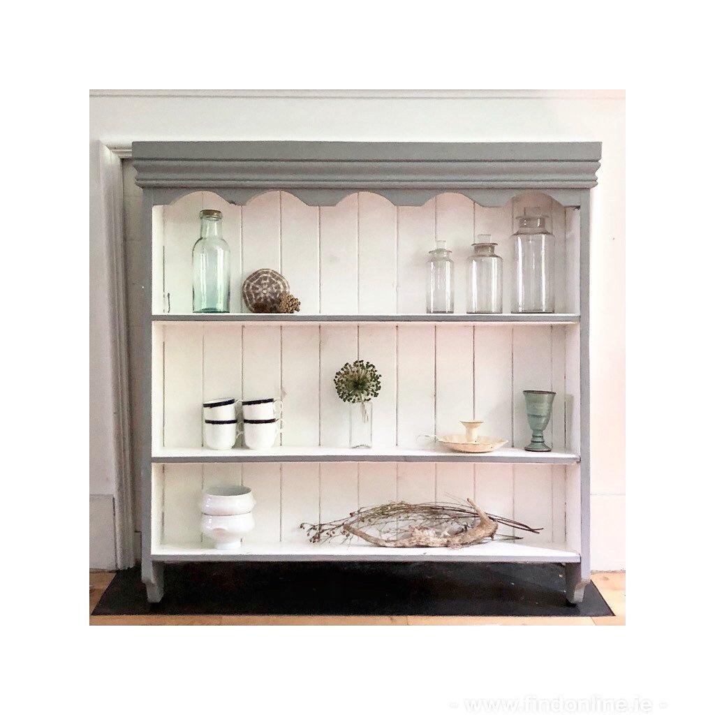 Painted pine original vintage shelf