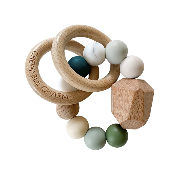 Image of Hayes Silicone + Wood Teether Ring
