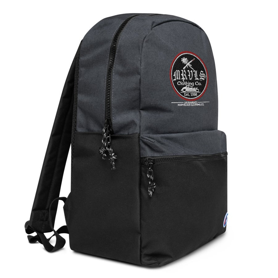 Image of Embroidered Champion Backpack Red