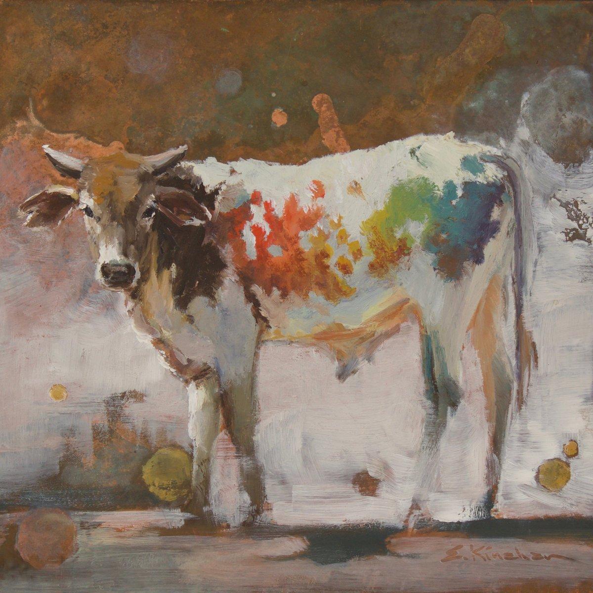 Image of super rainbow unicorn baby love bull prints