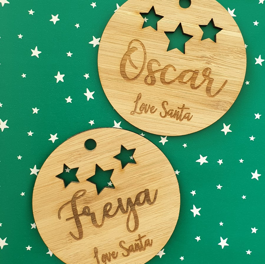 Image of Santa Sack Name Tags