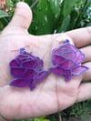 Mystic Purple Rose Earrings