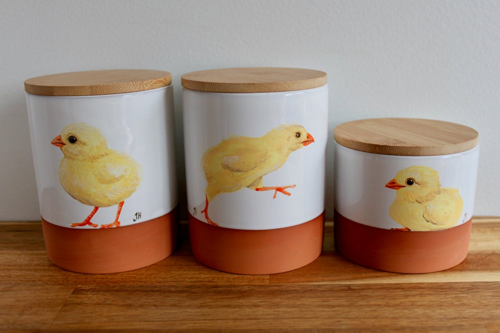 Hen and Chick Canisters