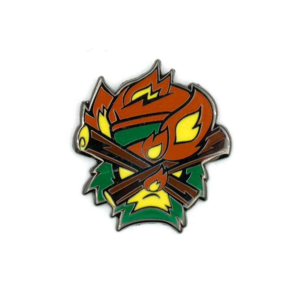 Cap Clubbers - Bon Fire Enamel Pin