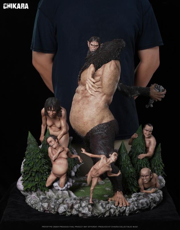 Image of [Pre-Order] Attack On Titan Chikara Studio Beast Titan resin statue