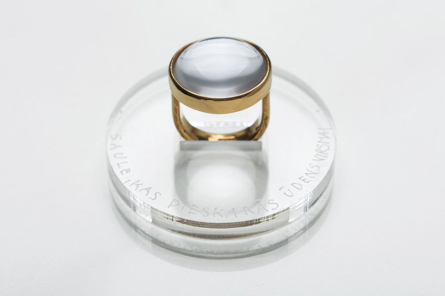"""Image of """"Sun touching water..."""" gold plated silver ring with rock crystal  · SŌL CONTRECTANS...  ·"""
