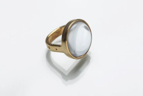 """Image of """"Sun touching water..."""" gold plated silver ring with rock crystal  · SOL CONTRECTANS...  ·"""