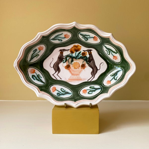 Image of Whippet Coat of Arms - Romantic Bowl