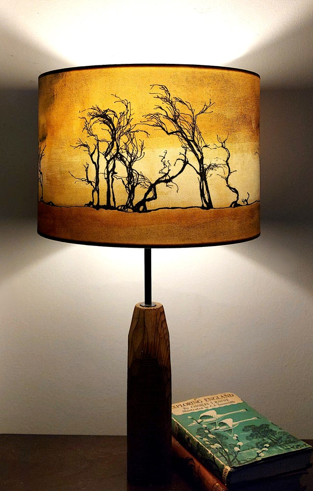 Image of Hawthorns Drum Lampshade by Lily Greenwood (30cm Diameter)