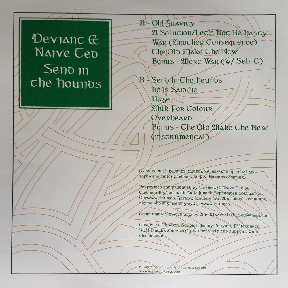 """Image of 12"""" VINYL - Deviant & Naive Ted - Send In The Hounds (CSMV001)"""