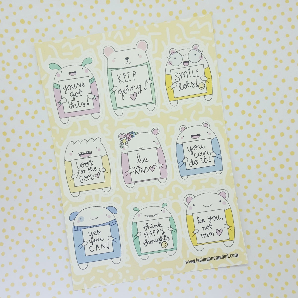 Tiny Reminder Critter Stickers