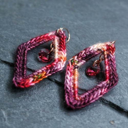 Image of ARGYLE EARRINGS - Pomegranate