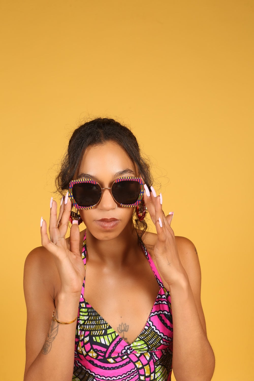Image of Ankara African print sunglasses 17