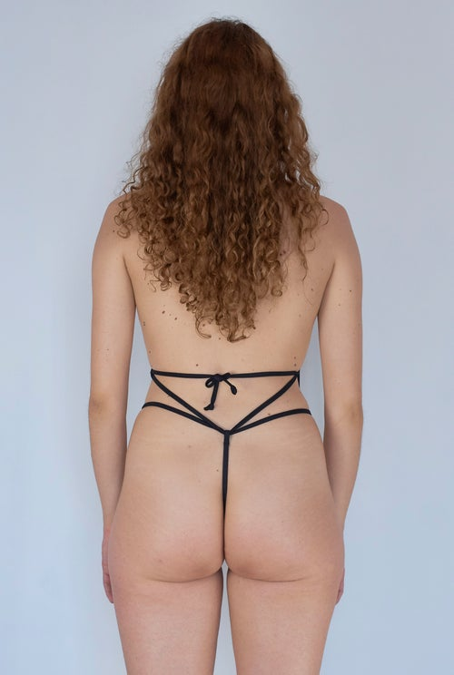 Image of Laced Up Body - Black