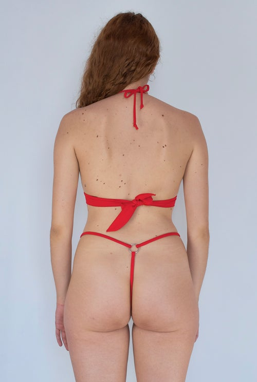 Image of Foxy Frame Top - Hot Red