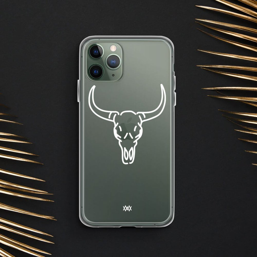 Image of Death of Wildlife. The Bull iPhone case