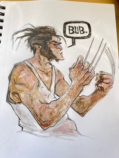 Image of Wolverine watercolor