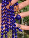 Lapis Lazuli and Citrine Mala, Lapis 108 Beads Japa Mala Hand Knotted Gemstone Necklace