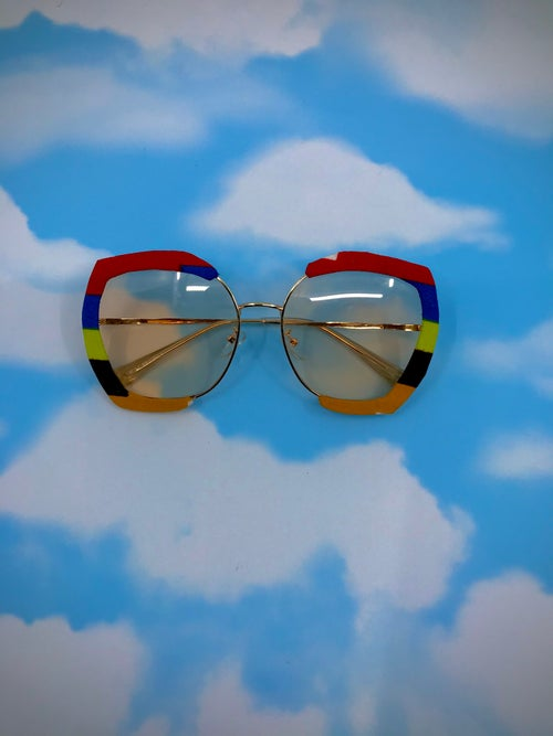Image of Ankara African print sunglasses 16