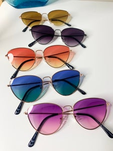 Image of Cats Eye Sunglasses with Tinted Lens