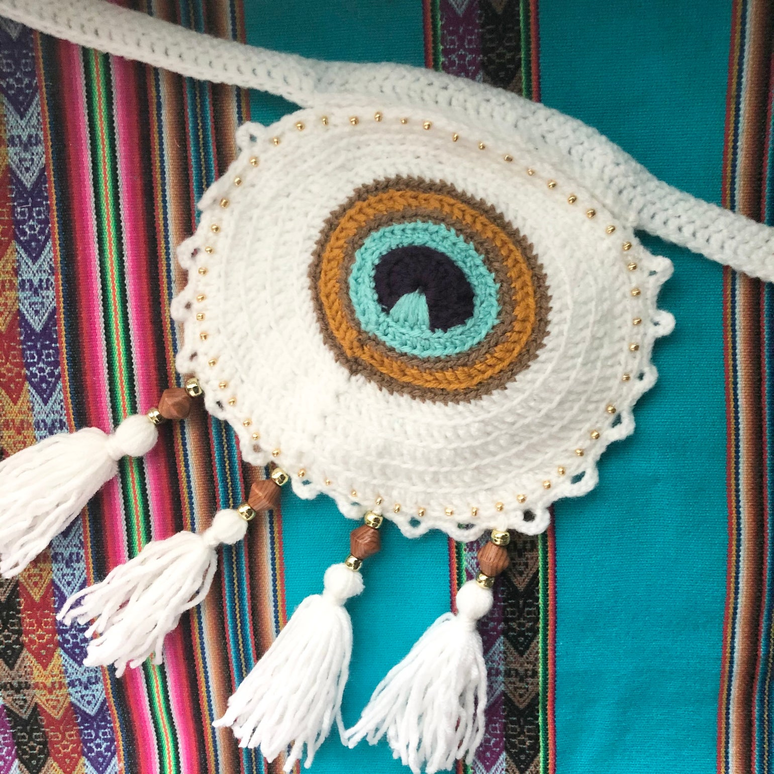 Image of Peacock pixie pouch