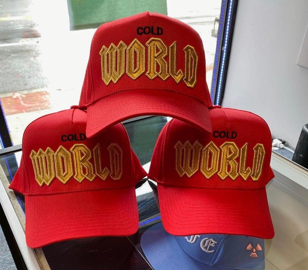 Image of Red Cold World Trucker