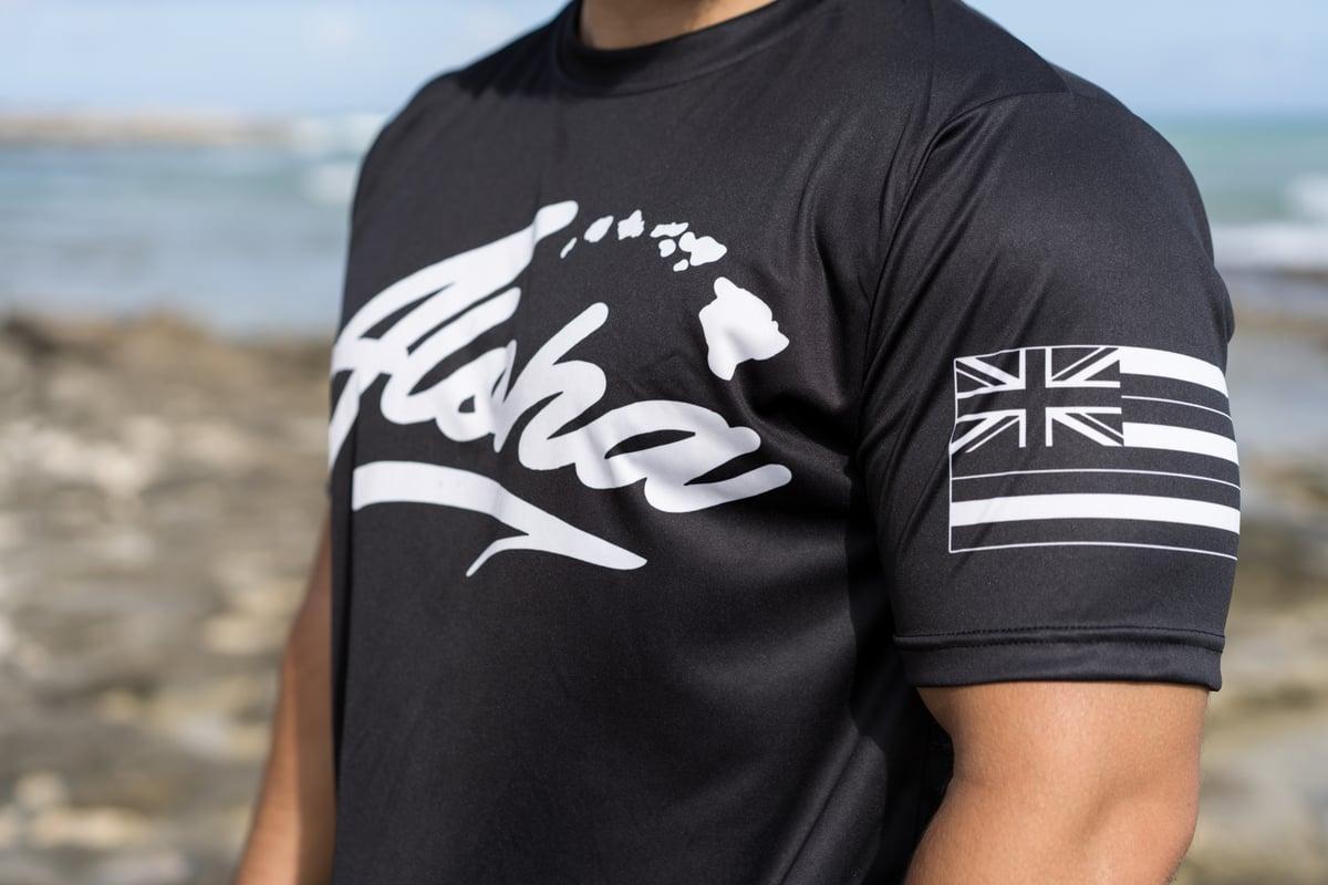 Aloha Islands - Aloha 50 - Black Sublimation T-shirt