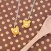 Milk Bun Bear Necklace