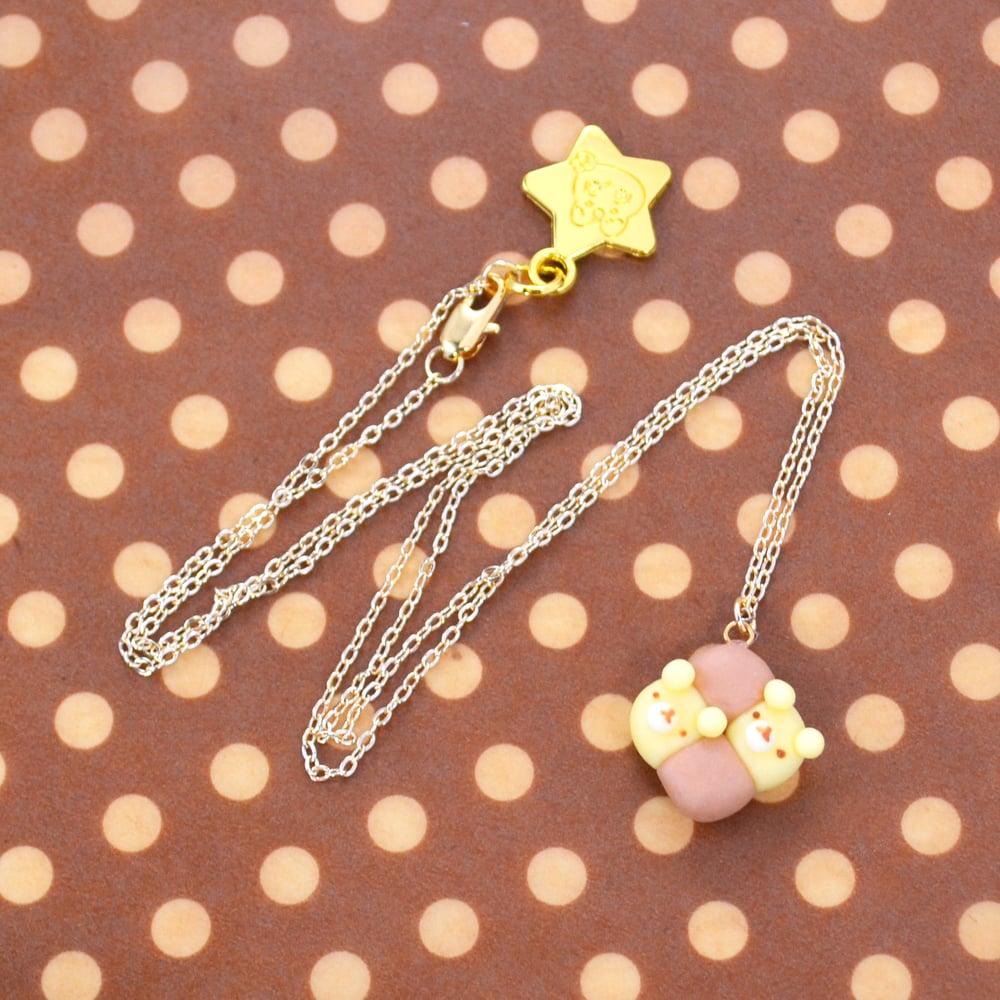 Milk Bun Bear Friends Necklace