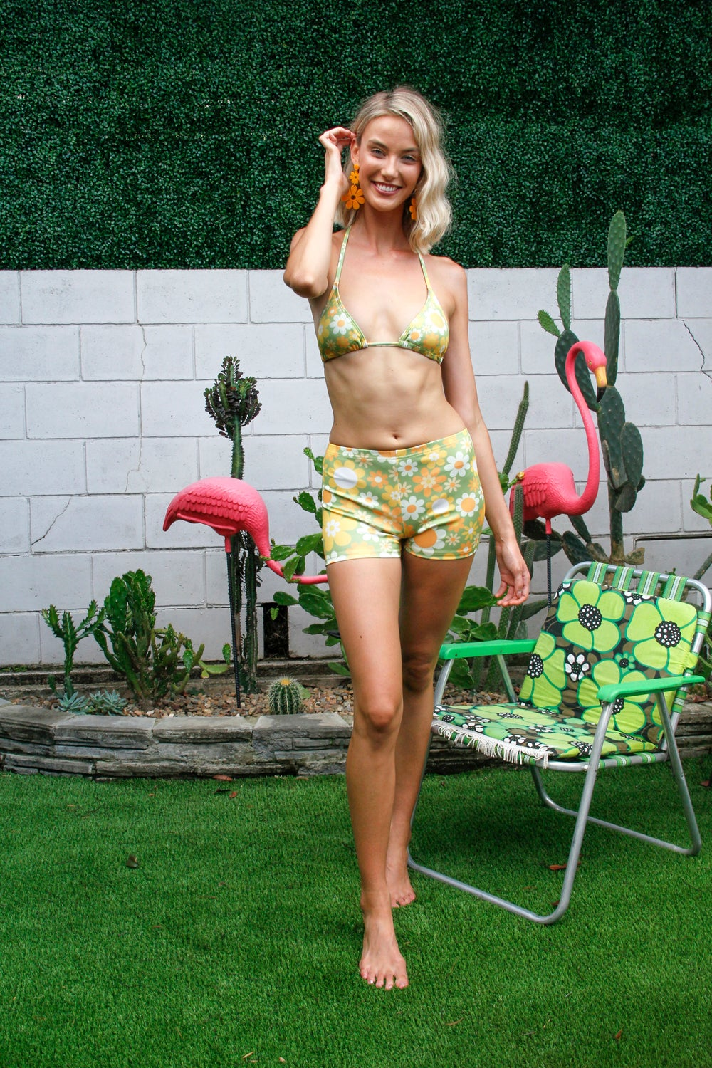 Shorty swim shorts in Sunny side up Green