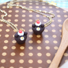 Chocolate Muffin Bear Necklace